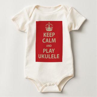 Keep Calm and Play Ukulele Baby Bodysuit