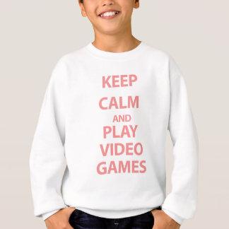 Keep Calm and Play Video Games Sweatshirt