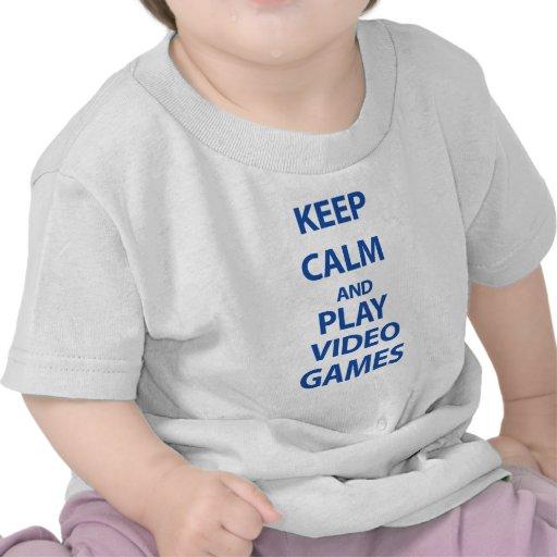 Keep Calm and Play Video Games Tshirt