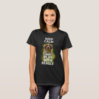 Keep Calm and Play with Beagle Dog Tshirt