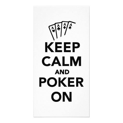 Keep calm and Poker on Picture Card