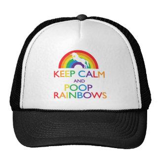 Keep Calm and Poop Rainbows Unicorn Hat