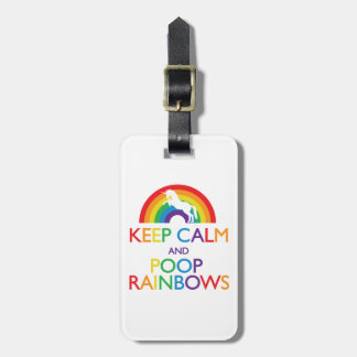 Keep Calm and Poop Rainbows Unicorn Tag For Luggage