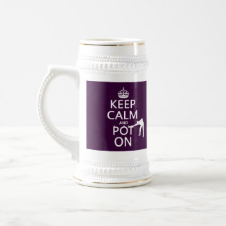 Keep Calm and Pot On (Snooker/Pool) Beer Stein