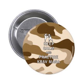 Keep Calm and Practice Krav Maga Pinback Button