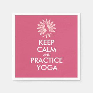 Keep calm and practice yoga disposable napkin
