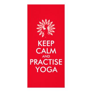 Keep calm and practise yoga customized rack card