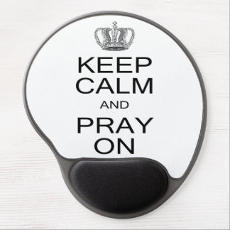 Keep Calm and Pray On Inspiration with Royal Crown Gel Mouse Pad