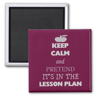 Keep Calm and Pretend It's in the Lesson Plan Magnet