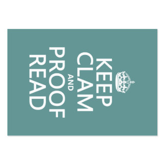 Keep Calm and Proofread (clam) (any color) Pack Of Chubby Business Cards