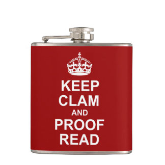 Keep Calm and Proofread Flask
