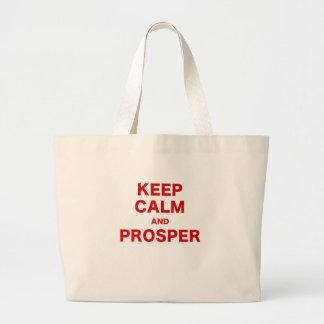 Keep Calm and Prosper Canvas Bag