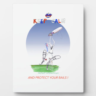 keep calm and protect your bails, tony fernandes plaques
