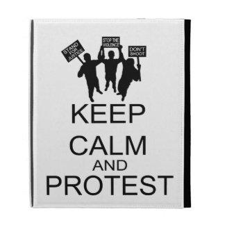 Keep Calm And Protest iPad Folio Cases