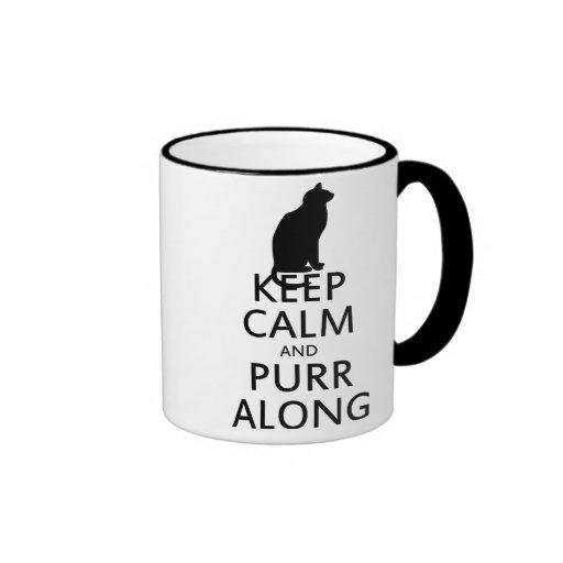Keep Calm and PURR Along Mug