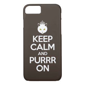 Keep Calm and Purrr On iPhone 7 Case