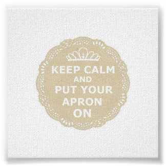 Keep Calm and Put Your Apron On Canvas Print