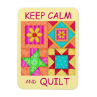 Keep Calm and Quilt Colourful Patchwork Blocks Magnet