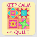 Keep Calm and Quilt For Block  Colourful Patchwork