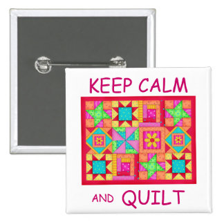 Keep Calm and Quilt Multi Block Patchwork Quilt Pins