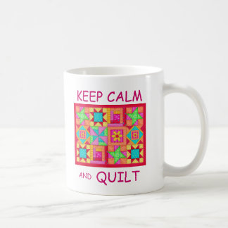 Keep Calm and Quilt Multi Block Patchwork Quilt Coffee Mug