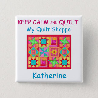 Keep Calm and Quilt Patchwork Quilt Name Badge