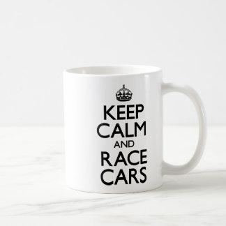 Keep Calm and Race Cars Basic White Mug