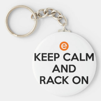 Keep Calm and Rack On Key Ring