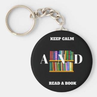 Keep Calm And Read A Book Keychain