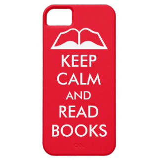 Keep calm and read books iPhone 5 cases
