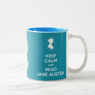 Keep Calm and Read Jane Austen Cameo Portrait mug Mugs
