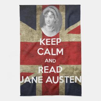 Keep Calm and Read Jane Austen Tea Towel