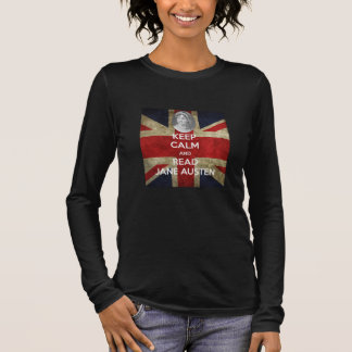 Keep Calm and Read Jane Austen Union Jack Long Sleeve T-Shirt