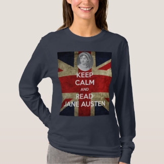 Keep Calm and Read Jane Austen with Portrait T-Shirt