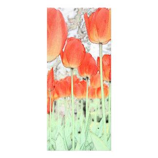 keep calm and read on, art tulip flowers bookmark full colour rack card