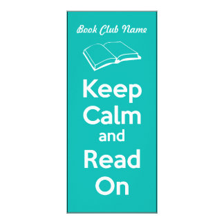 Keep Calm and Read On Book Mark Custom Rack Card