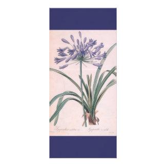 keep calm and read on, botanical art bookmark rack card