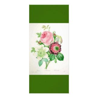keep calm and read on, botanical art bookmark rack card template
