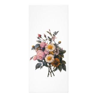 keep calm and read on, botanical art bookmark rack card design