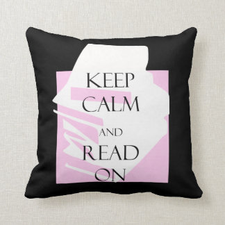 Keep Calm and Read On Cushion