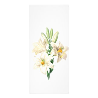 keep calm and read on elegant white lily bookmark rack card design