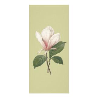 keep calm and read on, magnolia flower bookmark custom rack cards