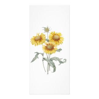 keep calm and read on, sunflowers bookmark custom rack card