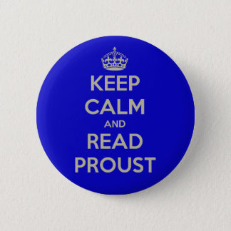 Keep Calm and Read Proust button badge