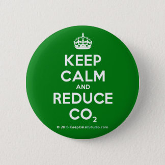 Keep Calm and Reduce CO2 6 Cm Round Badge