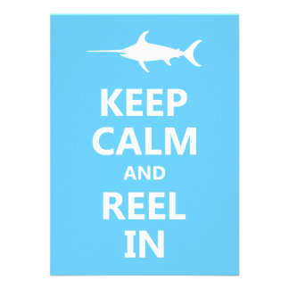 Keep Calm and Reel In Personalized Announcement
