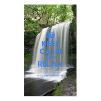 Keep Calm and Relax Business Cards