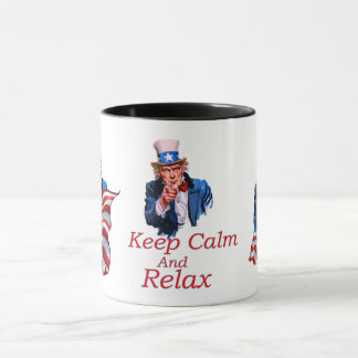 Keep  Calm And Relax Mug