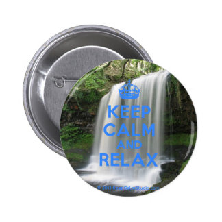 Keep Calm and Relax Pinback Buttons