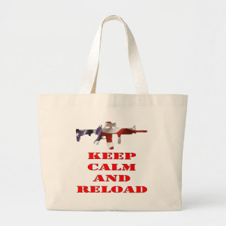 Keep Calm And Reload Canvas Bags